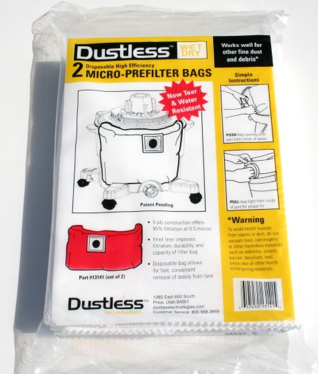 16 Gallon Dustless Technologies Micro Pre-Filter Bags (2 pack)